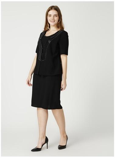 Selen Selen Siyah Taşlı Elbise Siyah